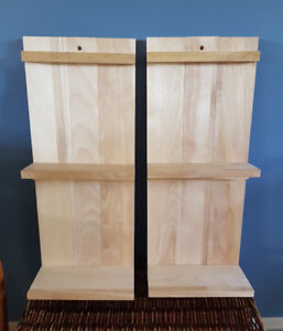 2 new handcrafted hardwood Shelves