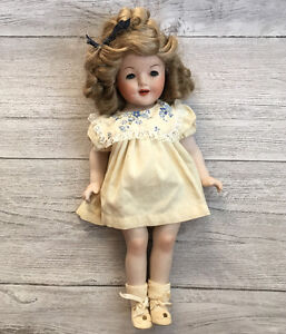 "18"" Shirley Temple porcelain doll reproduction circa 1980"