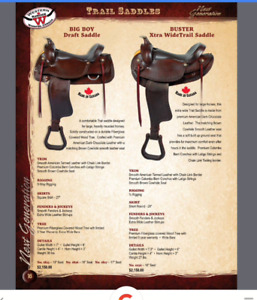 Trail saddle for wide horses