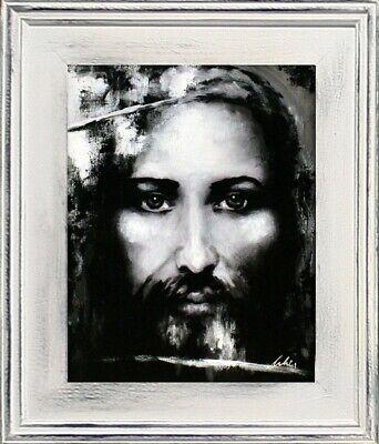 Religion Jesus Christus Handarbeit Ölbild Bild Ölbilder Rahmen Bilder G94696