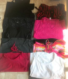 **LOT OF 10 LADIES TANK TOPS FOR SALE-SIZE XL**