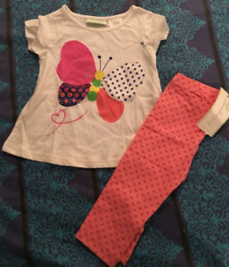 First impressions shirt and leggings. Brand new with tags.