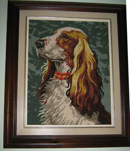 Cross-stitch of Springer Spaniel