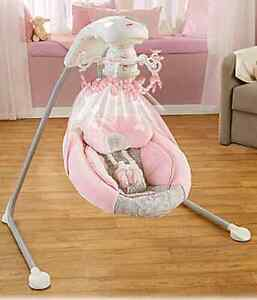 Fisher price rose chandelier cradle and swing