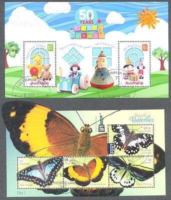 Australia-2016 min sheets Play school - Buttterflies f-used cto