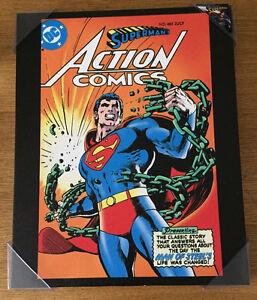 New SUPERMAN Action Comics Canvas Wall Art