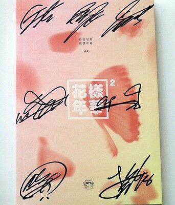 BTS Bangtan Boys Autographed 2015 Mini3 album 花样年华pt.2 new korean pink version