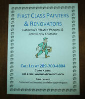 FIRST CLASS PAINTERS AND RENOVATORS
