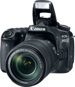 Canon 80D + F3.5-5.6 18-135MM + F1.8 50MM + 2 BATTERIES +CHARGER
