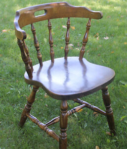 Wooden Chair with curved back