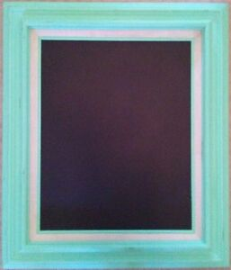 Mint Green Double Framed Chalkboard - Burlap Inlay