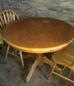 Kitchen round table and 2 chairs.