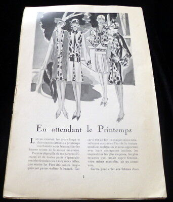 RARE 1920s Art Deco Prints FASHION ARTICLE * PARIS DESIGNERS*