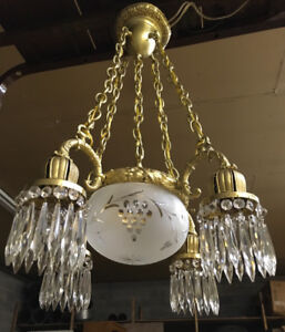 Antique Brass Chandelier | Buy & Sell Items, Tickets or Tech in ...