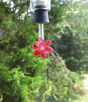 Hummingbird feeder tubes & stoppers with flower,set of 10 (RSt)