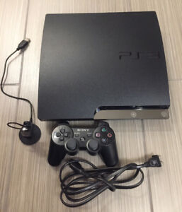 120g PS3 console with 1 controller and Bluetooth headset