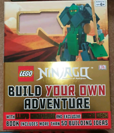 Lego Ninjago book and lego