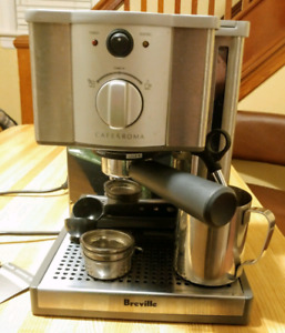 Breville Cafe Roma Espresso/Frother Machine + Extras