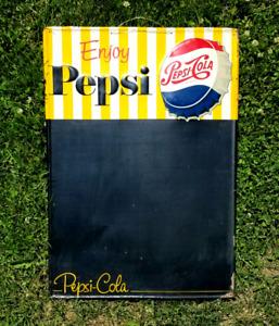 VINTAGE 1950S PEPSI CHALK BOARD BOTTLE CAP