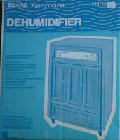 Too much humidity - Sears Dehumidifier up to 13 L/day removal.