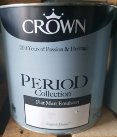 Crown period Flat Matt emulsion:English Manor