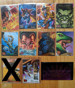 1995 MARVEL MASTERPIECES SINGLE CARDS