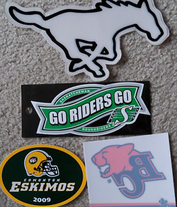 CFL stickers (Lions, Grey Cup, Roughriders, vintage Alouettes)