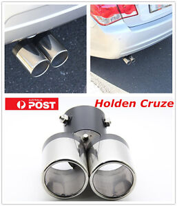 Twin Dual StainlessTail Exhaust Muffler Tip Pipe Exhaust Pipe For Holden Cruze