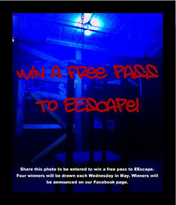 You should win a free ticket at Edmonton Escape Game Rooms