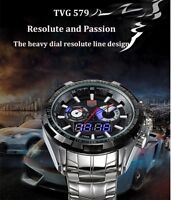 Tvg 579 Male Dual Time LED Watch Military Outdoor Sports
