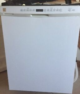 Kenmore Ultra Wash Tall Tub White Built-In Dishwasher.