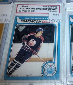Wayne Gretzky O Pee Chee Rookie Card RC KSA 7.5 NM