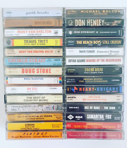 (28) cassettes various artists