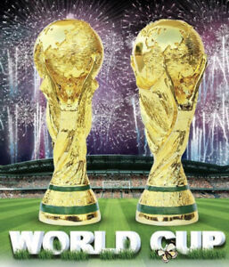 World Cup Fifa Replica Trophy  2018 Gold Resin Various Sizes