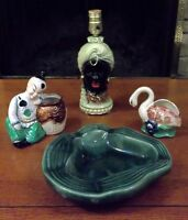 Vintage Planters/Toothpick Holders & Pottery Bowl