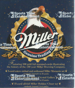 Miller Beer Card Set (100 Cards) & Free Case