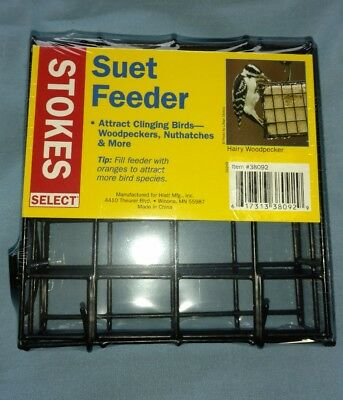 Stokes Select Mounted Suet Bird Feeder, Hardware and Bracket new sealed