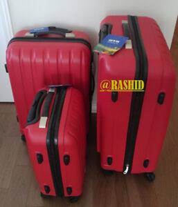 Set Of 3 brand set Of 3 brand new red color luggage suitcases