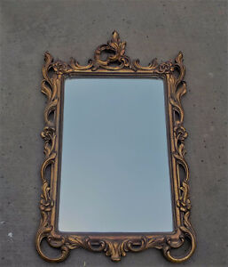 FRENCH PROVINCIAL VINTAGE ORNATE MIRROR - ANTIQUE GOLD
