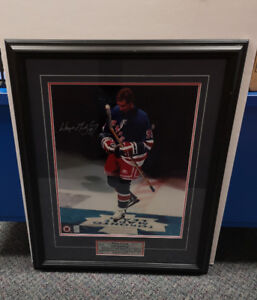 Autographed of Gretzky's Last NHL Game at Maple Leaf Gardens.