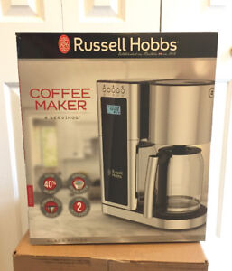 Russell Hobbs Stainless Steel 8 Cup Coffee Maker - NEW!