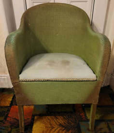 Vintage Lloyd loom Green chair