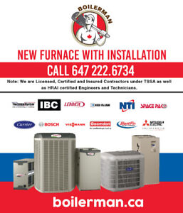 Furnace, Boilers, Tankless, Gas Line. 20%  OFF