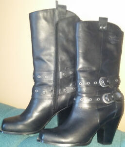 Harley Davidson Women Leather Boots, size9M