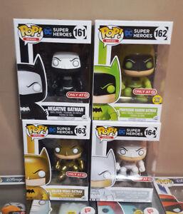 Funko Pop Heroes DC Target Exclusive Batman set of 4 Glow Gold