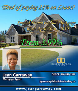 The mortgage Jeanie does it again!  3.99-6.99% for 2nd Mortgage.