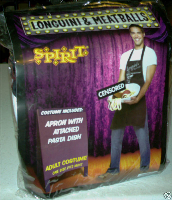 Costume Adult Mens Longuini Halloween Party Funny Pasta dish meatballs gay int