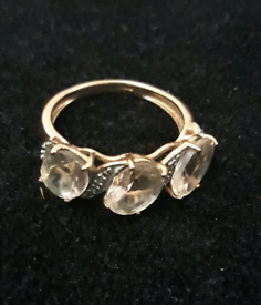 9ct Rose gold Morganite ring