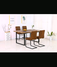 Brand New Dining Table with 4 Fabric Chairs