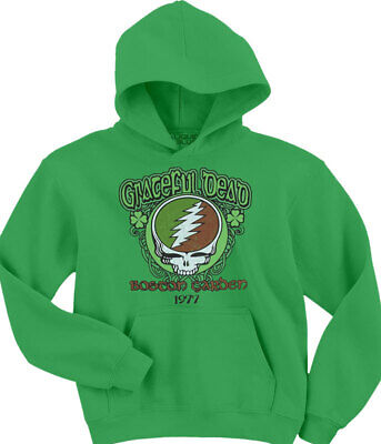 Grateful Dead Hoodie (GRATEFUL DEAD-SHAMROCK 77-Boston Garden-PULOVER HOODIE-M,L,XL,2X,3X,4X,5X)